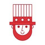 Abraham Lincoln avec le caractère comique de chapeau Images libres de droits