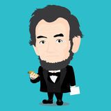Abraham Lincoln Character Illustration Stock