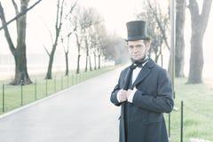 Abraham Lincoln Character Portrait At The medborgaregalleria Royaltyfri Fotografi