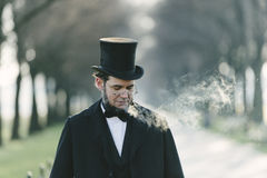 Abraham Lincoln Character Portrait At The medborgaregalleria Royaltyfri Foto