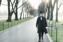 Abraham Lincoln Character Portrait At The National Mall Stock Photos
