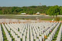 Abraham Lincoln Cmentarniany miejsce spoczynku nasz spadać bohaterzy Zdjęcia Stock