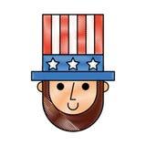 Abraham Lincoln con el carácter cómico del sombrero Fotos de archivo