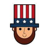 Abraham Lincoln con el carácter cómico del sombrero libre illustration