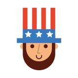 Abraham Lincoln con il carattere comico del cappello illustrazione di stock