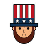 Abraham Lincoln con il carattere comico del cappello royalty illustrazione gratis