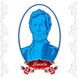 Abraham Lincoln Day. Portrait of Abraham Lincoln placed on a white background vector illustration