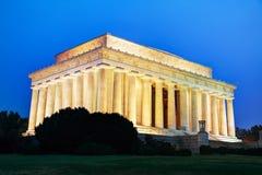 Abraham Lincoln-Denkmal in Washington, DC Stockbild