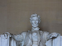 Abraham Lincoln - dessus partiel Photo stock