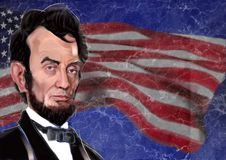Abraham Lincoln digital illustration Royalty Free Stock Photos