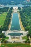 Abraham Lincoln e memorial de WWII em Washington, C.C. Imagem de Stock Royalty Free