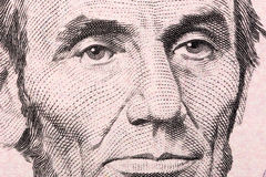 Abraham Lincoln een close-upportret royalty-vrije stock fotografie