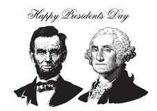 Abraham Lincoln en George Washington Royalty-vrije Stock Foto's