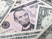 Abraham Lincoln Face Arkivfoton