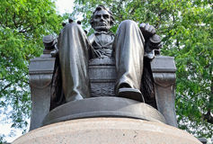 Abraham Lincoln Facing Grant Park. In Chicago, Illinois Royalty Free Stock Image