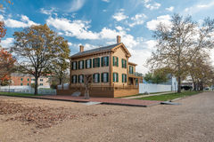 Abraham Lincoln House in Autumn Stock Photos