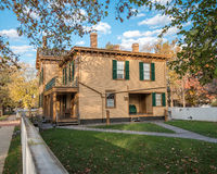 Abraham Lincoln House in Autumn Stock Photo