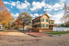 Abraham Lincoln House in Autumn Stock Images