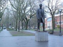 Abraham Lincoln i Portland, Oregon, USA Arkivbild