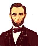 Abraham Lincoln Illustration Fotos de archivo