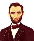 Abraham Lincoln Illustration. An illustration of American Civil War President Abraham Lincoln Stock Photos