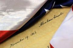 Abraham Lincoln konstitution för häfteUSA Arkivbilder