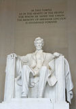 Abraham Lincoln - mémorial de Lincoln Images stock