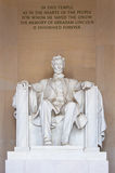 Abraham Lincoln memorial. Statue of Abraham Lincoln in Washington D.C Royalty Free Stock Photography