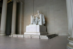 Abraham Lincoln Memorial 2. A wide-angle image of the Lincoln Memorial in soft morning light stock images