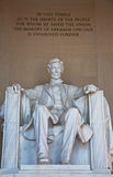 Abraham Lincoln memorial. In Washington DC Royalty Free Stock Photography