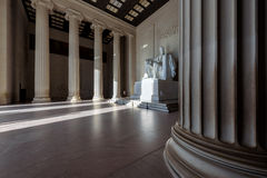 Abraham Lincoln Memorial bei Sonnenaufgang, Washington DC lizenzfreies stockfoto
