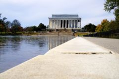 Abraham Lincoln Memorial. Building with a perspective along the reflecting pool Royalty Free Stock Image