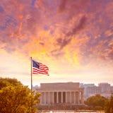 Abraham Lincoln Memorial building Washington DC. Abraham Lincoln Memorial building sunset Washington DC US USA Stock Photos