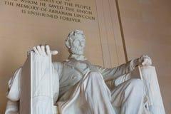 Abraham Lincoln Memorial byggnadsWashington DC Arkivfoton