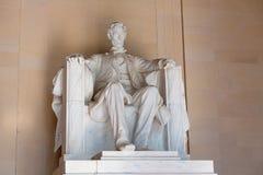 Abraham Lincoln Memorial byggnadsWashington DC Arkivbilder