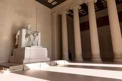 Abraham Lincoln Memorial byggnadsWashington DC Royaltyfri Foto