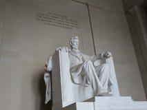 Abraham Lincoln - Lincoln Memorial - da esquerda fotos de stock