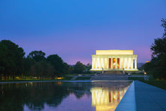 Abraham Lincoln Memorial i Washington, DC Arkivbild