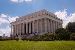 Abraham Lincoln Memorial i Washington DC USA Fotografering för Bildbyråer