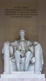 Abraham Lincoln Memorial med handstilar Arkivbild