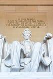 Abraham Lincoln Memorial Sitting Chair berömd gränsmärkeCloseup P Royaltyfri Fotografi
