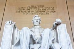 Abraham Lincoln Memorial Sitting Chair berömd gränsmärkeCloseup P Arkivbilder