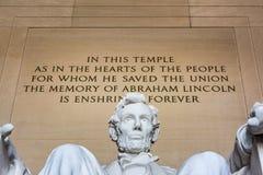 Abraham Lincoln Memorial Sitting Chair berömd gränsmärkeCloseup P Fotografering för Bildbyråer
