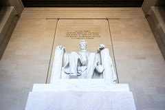Abraham Lincoln Memorial Sitting Chair famous Landmark Closeup P stock photography