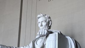 Abraham Lincoln Memorial Statue stock footage