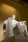 Abraham Lincoln memorial statue at night. Abraham Lincoln memorial statue illuminated at night in Washington D,C, America stock photography