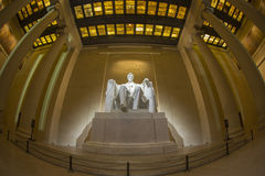 Abraham Lincoln memorial statue at night. Stock Photos