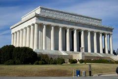 Abraham Lincoln Memorial turister Royaltyfri Foto