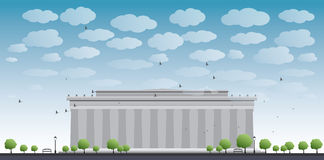 Abraham Lincoln Memorial in Washington DC USA. Vector illustration Stock Photo
