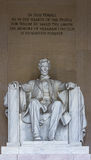Abraham Lincoln Memorial with writings Stock Photography